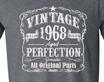 50th Birthday, 1968 Shirt, 1968 Legend, 1968 Gift, 50th Birthday Gift, 50th Birthday Idea, 50 Birthday, GRAY 1968, Fiftieth Gift, Vintage