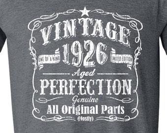 91st Birthday, 91st Birthday Gift, 91st Birthday Gift for Him. 91st Birthday Idea for 1926 Birthday, 91st, Birthday Shirt, 91 GRAY 1926