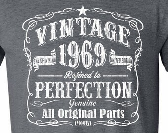 50th Birthday 1969 Shirt Legend Gift Idea 50 GRAY Fiftieth Vintage
