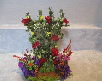 """Dollhouse miniature handmade /""""dark peach/"""" floral candles"""
