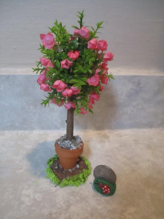 "Miniature doll//dollhouse 6/"" orange tree//clay pot//polymer oranges"