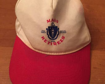 Vintage Mass Retirees 6 Panel Snapback Hat