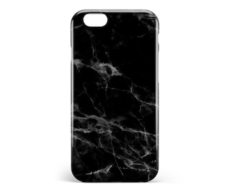 Black marble case. PVC. iPhone 6s, 6s, 7, 7 more, 8, 8 more. Samsung S6, S6 Edge, S7, S7 Edge S8 + S8, illustration, design, france