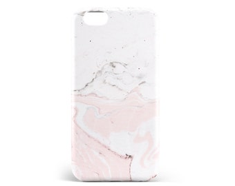 Pink marble case. PVC. iPhone 6s, 6s, 7, 7 more, 8, 8 more. Samsung S6, S6 Edge, S7, S7 Edge S8 + S8, illustration, design, france