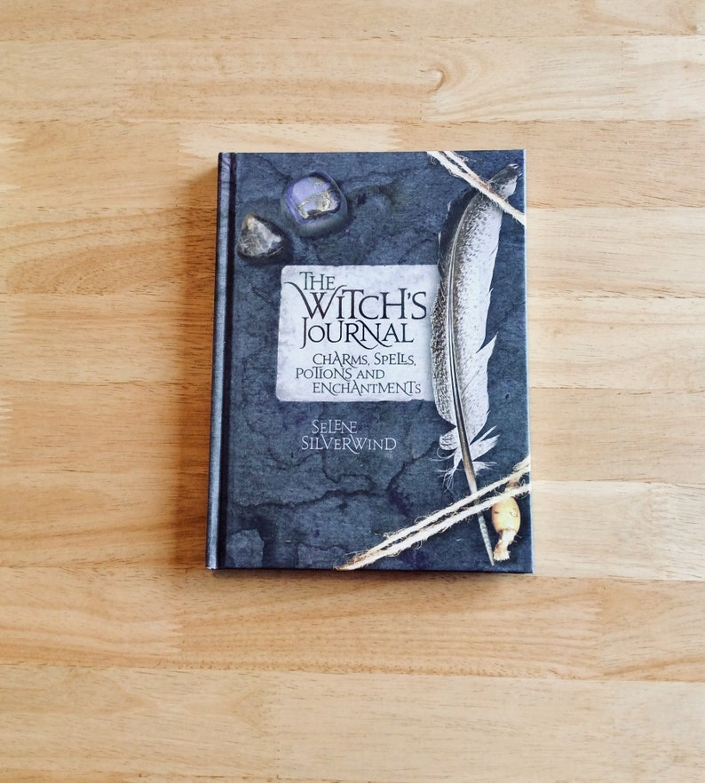 Spell book, witches journal, spells, charms, potions, book of shadows,  psychic spell, witches gift, Wiccan gift, pagan gift, hardback book