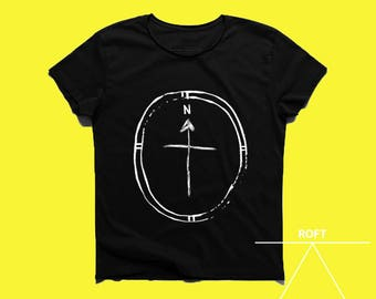 Compass design men tshirt