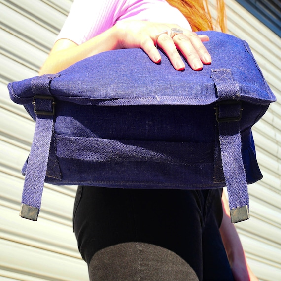 Vintage indigo bag - image 9