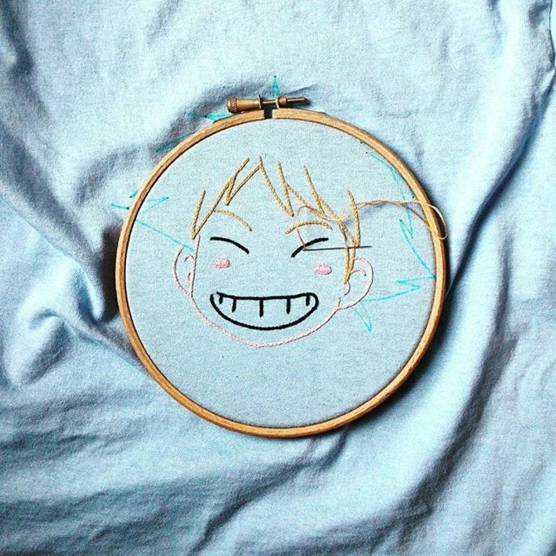 embroidered sweat Ed/'s head