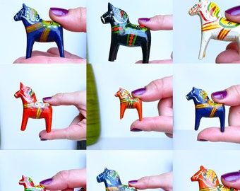 Tiny Dala Horses, Collection from the 1900's