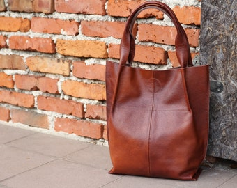 99f713134b Leather Shopper Bag