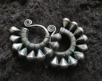 Ancient Miao tribe earrings