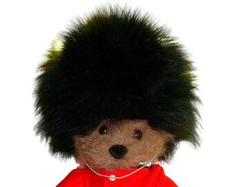 Teddy bear Royal Guard, handmade toy.