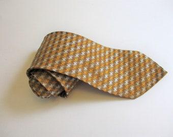 Mixed Metals Acetate Necktie Vintage 1960s Gold Silver Copper Mens Tie