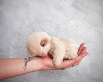 OOAK Teddy Artist Sloth Cute fantasy plush toy