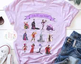 3df06e64 Villains Bad to the Bone Short-Sleeve Unisex Tee Ladies Men's Women's  T-Shirt