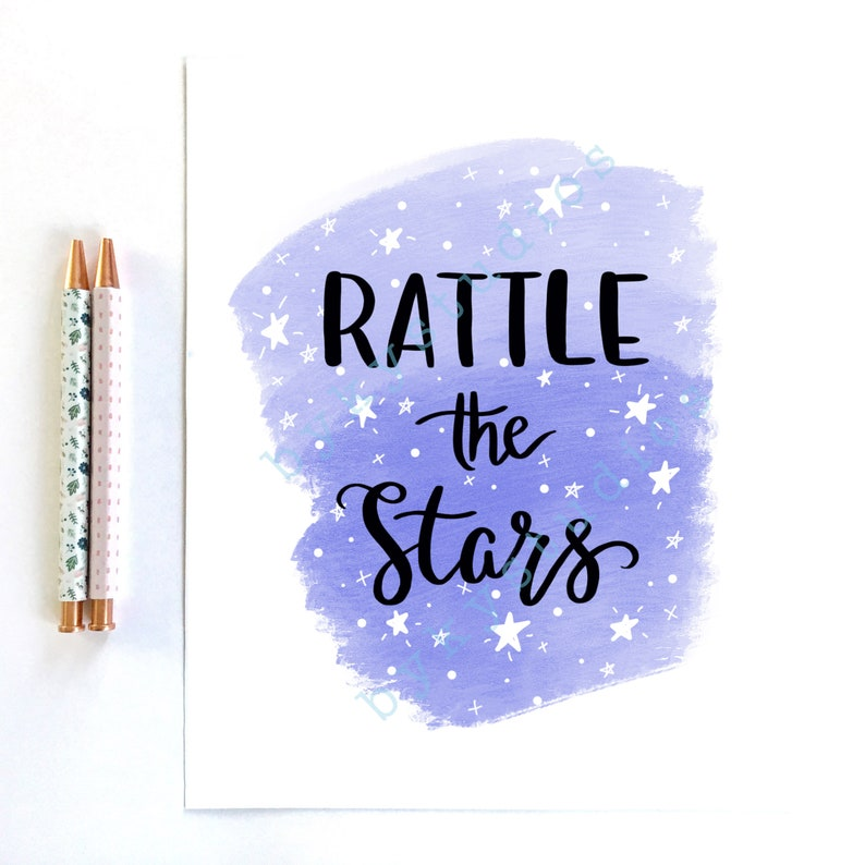 Printable Art Rattle The Stars Throne Of Glass By Etsy