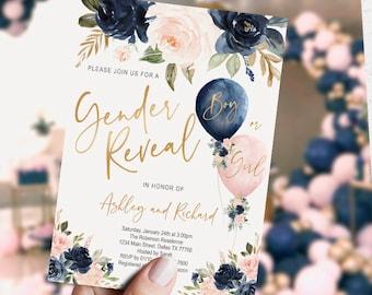 gender reveal invitation
