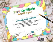 items similar to pre k certificate oh the places you ll go