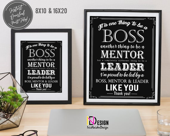 Printable 2021 Christmas Gift Manager Boss Appreciation Boss S Day It S One Thing To Be A Etsy