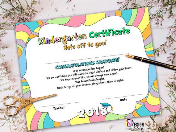 kindergarten certificate oh the places you ll go certificate