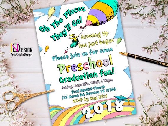 elementary graduation preschool graduation invitation kindergarten