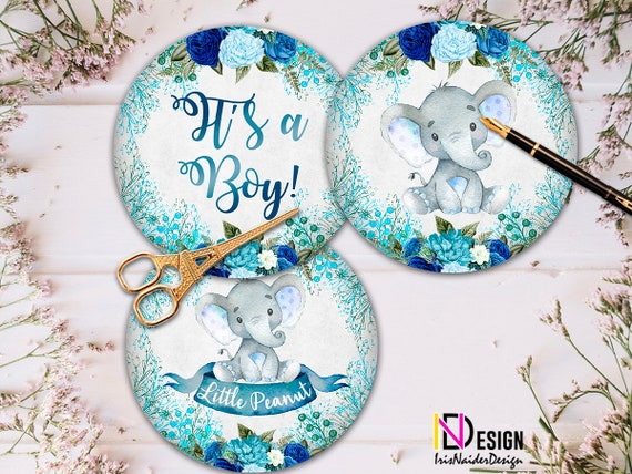 Elephant Centerpieces Baby Shower Centerpiece Boy Little Peanut