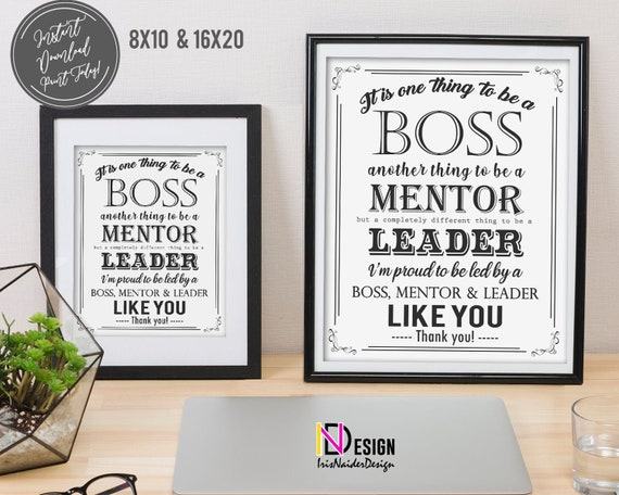 Printable 2021 Christmas Gift Manager Boss Appreciation Boss S Day It S One Thing To Be A Boss Printable Gift Christmas Gift Employer Co Worker Manager Instant Download By Irisnaiderdesign Catch My Party