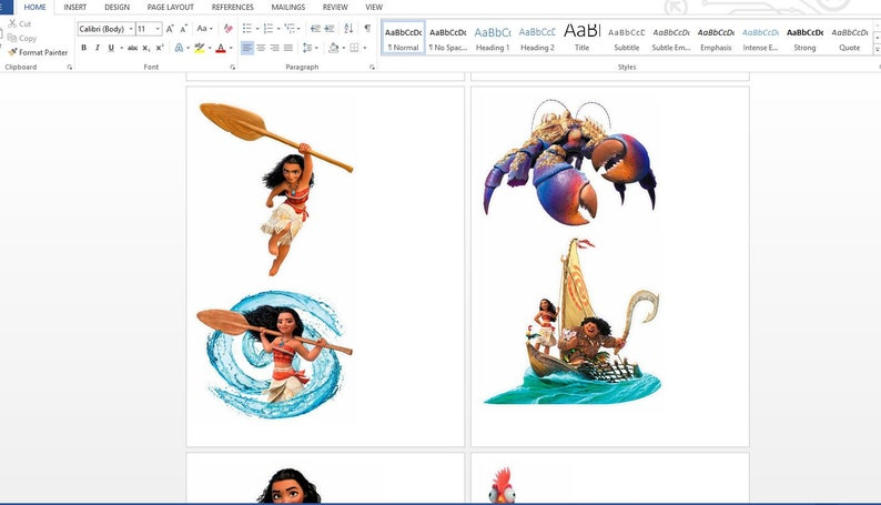 13 Moana Centerpieces MIRROR ONLY