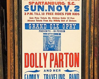 Dolly Parton Letterpress Poster