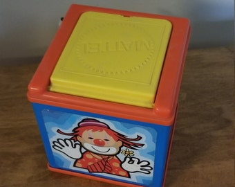 vintage toy, jack in the box