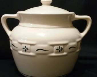 Longaberger pottery cookie jar