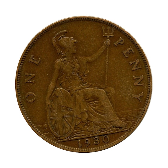 1934 One Penny coin KGV
