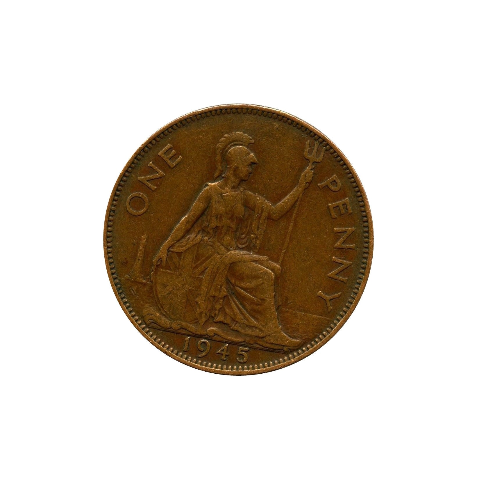 1945 One Penny Coin Great Britain From King George VI , Perfect for  Birthdays ,Anniversary or Craft and Jewellery