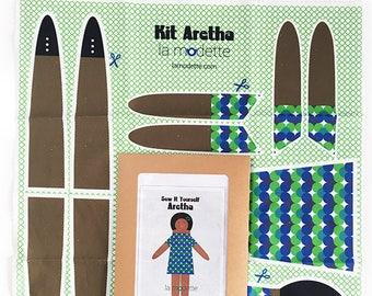 Doll sewing kit blanket - Aretha