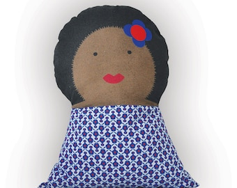 Soft cushion doll - Aretha - for kids bedroom