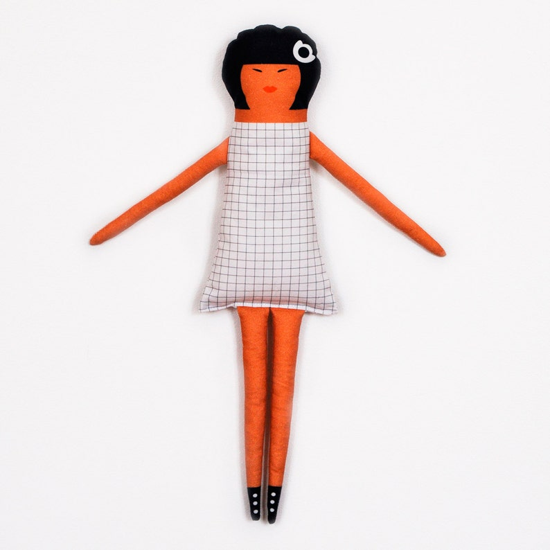 Soft doll  Aretha  black and white image 0