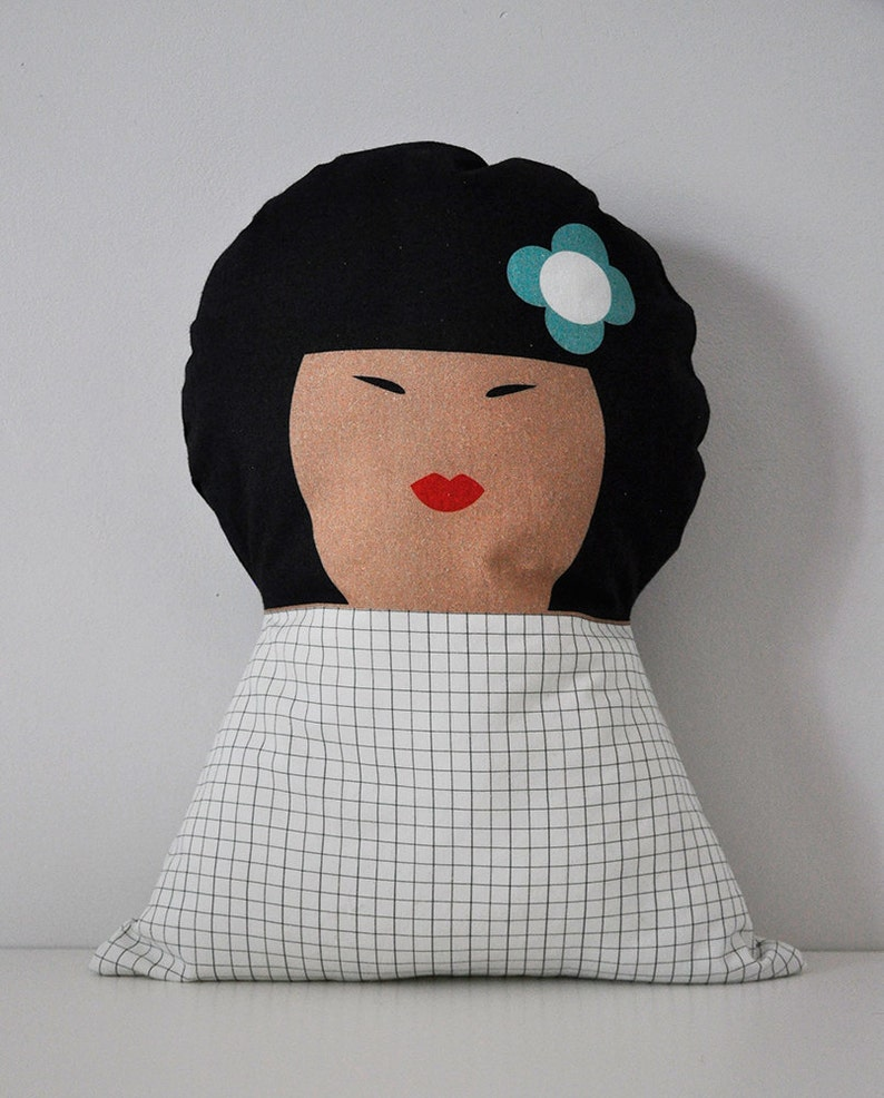 Soft doll cushion  Yoko  for kids bedroom image 0