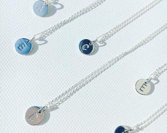 Monogram Pendant Sterling Silver Necklaces