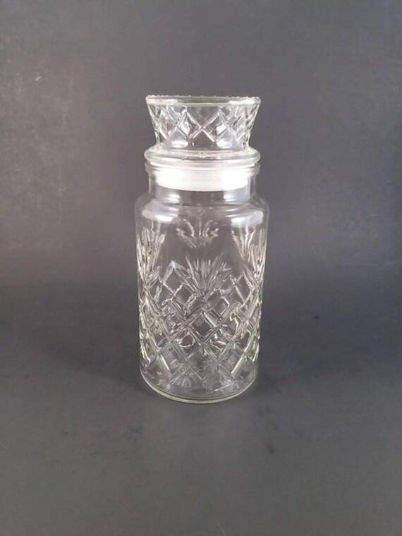 Planter S Peanut Jar Decorative Glass Jar With Tall Lid Etsy
