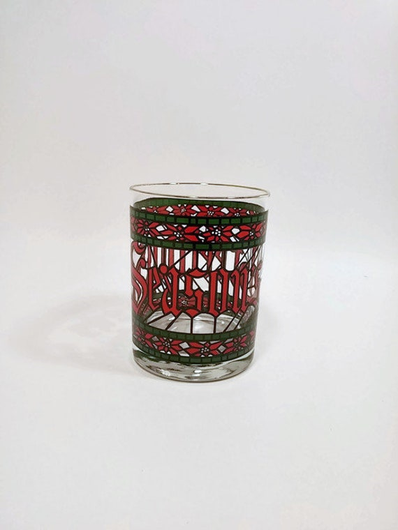 Seasons greetings old fashioned glasses with gold rim etsy image 0 m4hsunfo
