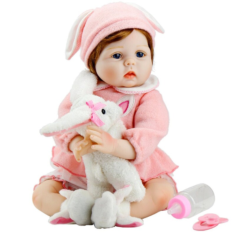 Lifelike Realistic Reborn Play Doll 22 Inch Handmade Weighted Baby Play Doll USA