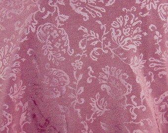 Maroon/Wine polyester embossed fabric 1 yard +3 inches 45 inches wide