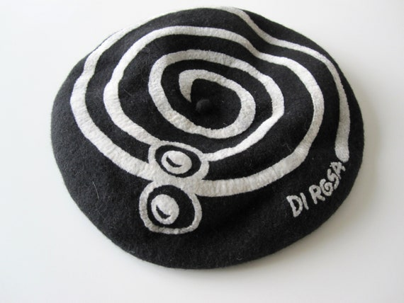 DI ROSA Vintage wool beret 1980s France, Béret 10… - image 1
