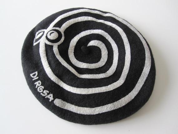 DI ROSA Vintage wool beret 1980s France, Béret 10… - image 2