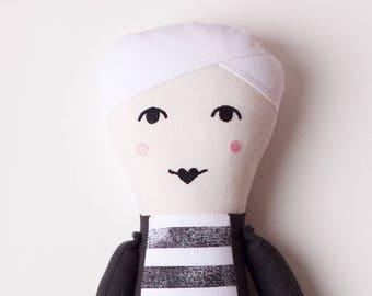 Pop Art Artist Andy Warhol Cloth Doll: handmade with organic cotton