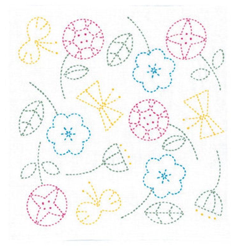 White Scandinavian Series Olympus #SK-326 Japanese Sashiko Sampler Kit \u2013 Flower