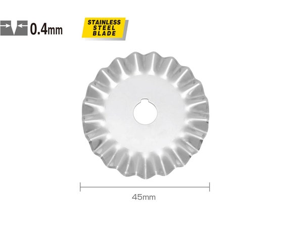 LOT OF 2 Olfa 45mm Pinking Rotary Blade PIB45-1 NEW
