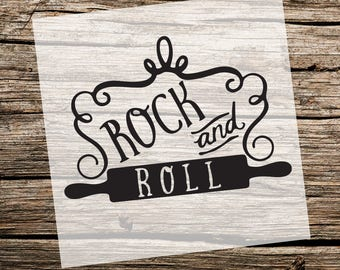 Genial Rock And Roll Kitchen Stencil | Custom Stencil | Custom Stencils | Multiple  Sizes | Reusable Stencils | Ready To Use | Get Ready To Paint!