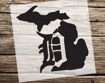 Michigan Detroit Tigers | Custom Stencil | Custom Stencils | Multiple Sizes | Reusable Stencils | Ready to use | Get Ready to Paint! |
