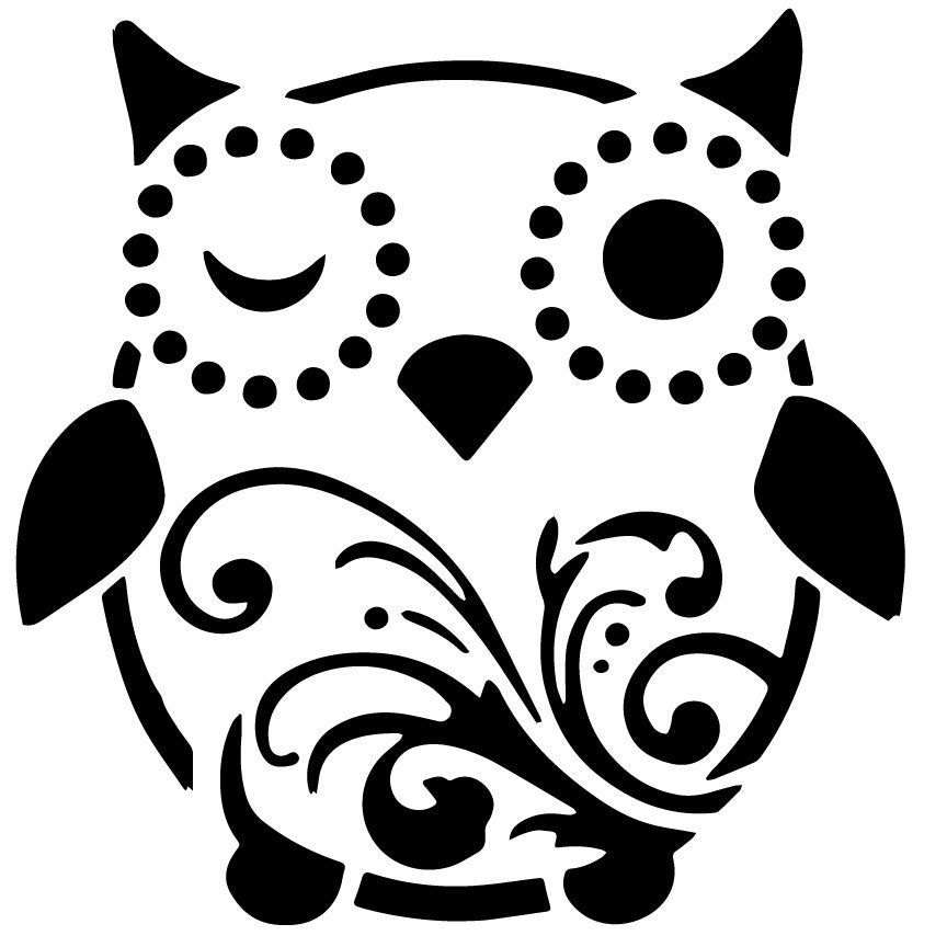 Cute Owl Owl Stencil Custom Stencil Custom Stencils